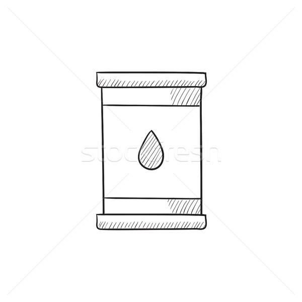 Olaj hordó rajz ikon vektor izolált Stock fotó © RAStudio