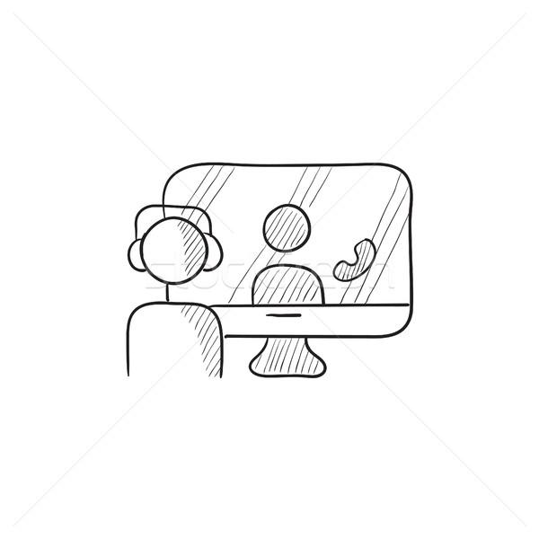 Online education sketch icon. Stock photo © RAStudio