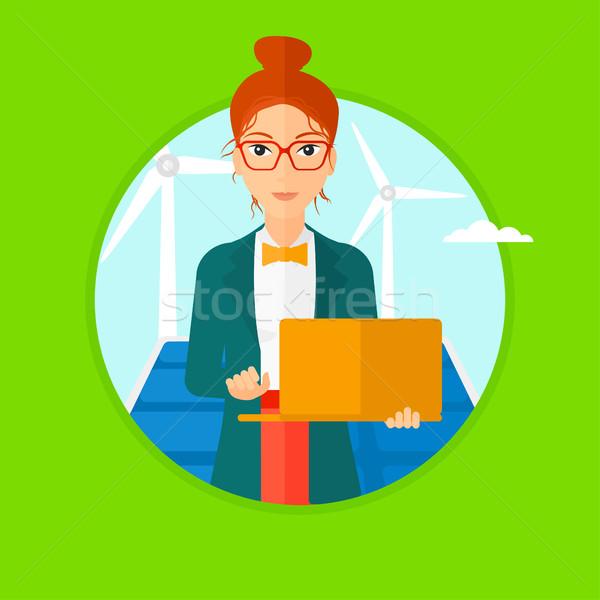 Photo stock: Femme · Homme · travailleur