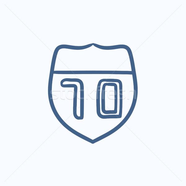 Ruta senalización de la carretera boceto icono vector aislado Foto stock © RAStudio