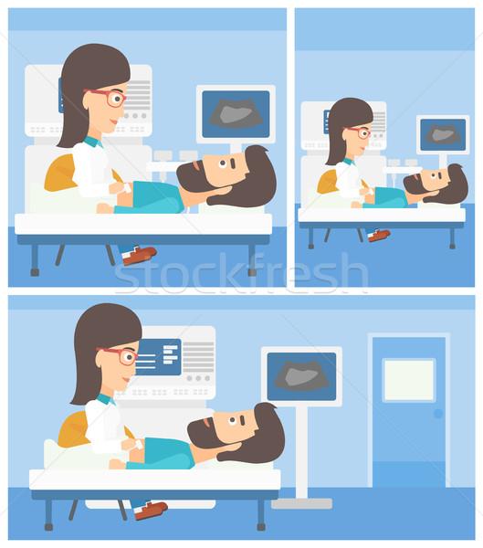 Patient during ultrasound examination. Stock photo © RAStudio
