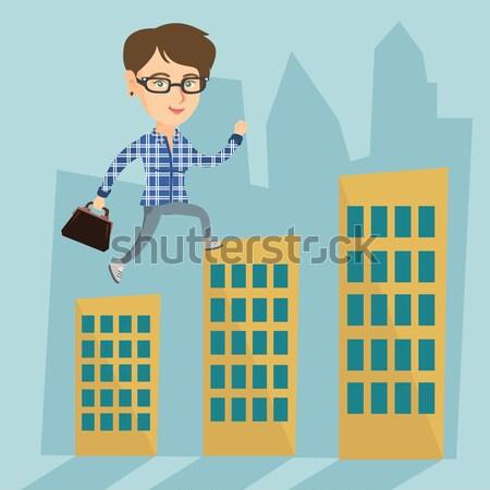 Mann weg Papierkorb asian junger Mann Stock foto © RAStudio