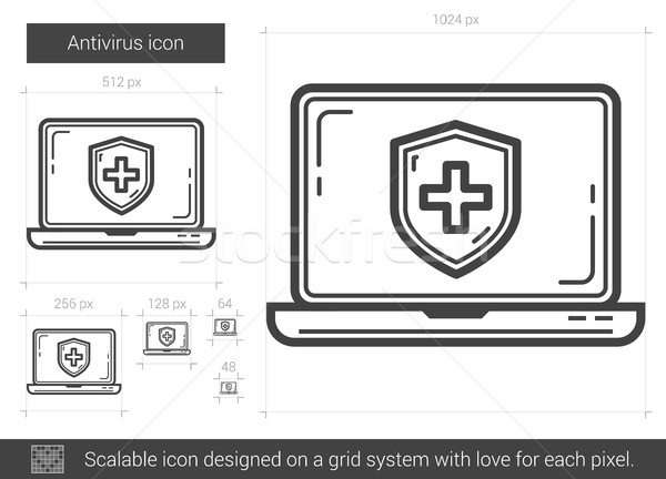 Antivirus line icon. Stock photo © RAStudio