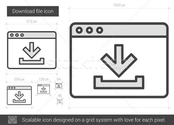 скачать файла линия икона вектора изолированный Сток-фото © RAStudio