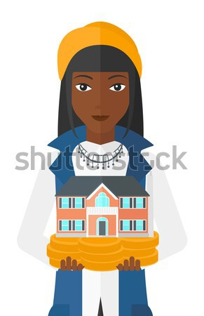 Woman throwing junk food vector illustration. Stock photo © RAStudio