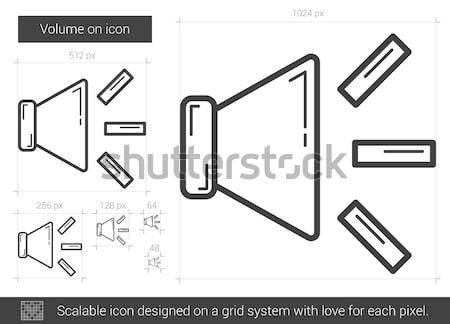 Hacim hat ikon vektör yalıtılmış beyaz Stok fotoğraf © RAStudio