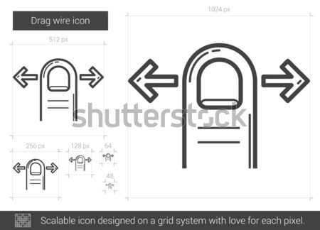 Kenar hat ikon vektör yalıtılmış beyaz Stok fotoğraf © RAStudio