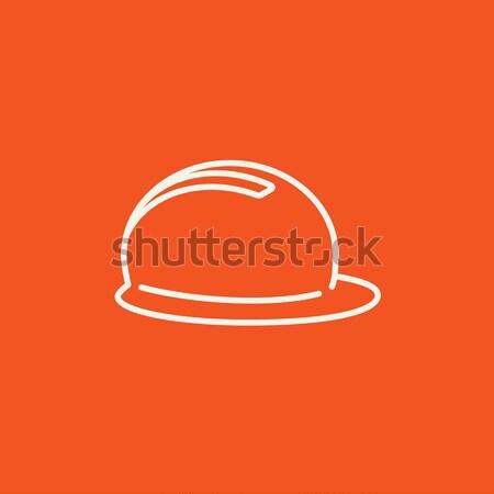 Hard hat sketch icon. Stock photo © RAStudio