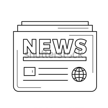 újság rajz ikon vektor izolált kézzel rajzolt Stock fotó © RAStudio