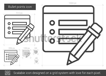 Lövedék pontok vonal ikon vektor izolált Stock fotó © RAStudio