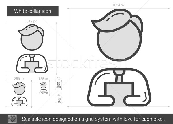 White collar line icon. Stock photo © RAStudio