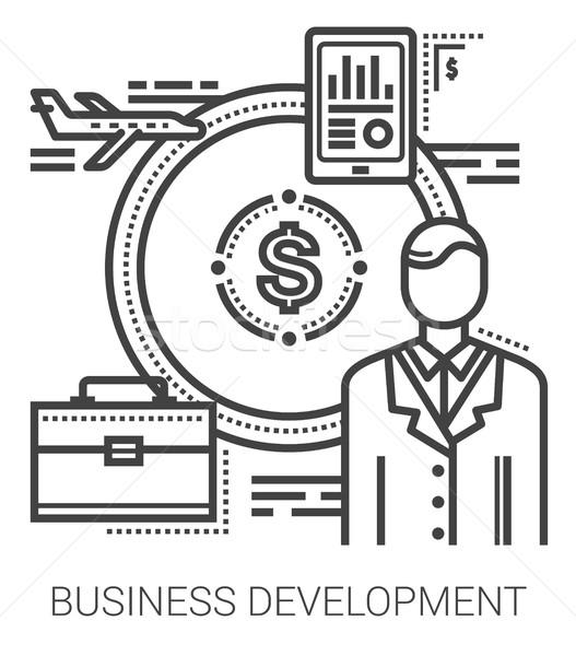 Business development line icons. Stock photo © RAStudio