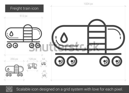 Freight train line icon. Stock photo © RAStudio