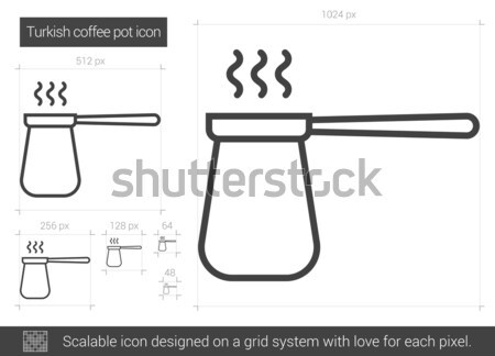 Turkish coffee pot line icon. Stock photo © RAStudio