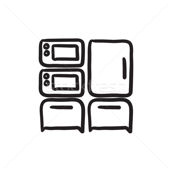 Household appliances sketch icon. Stock photo © RAStudio
