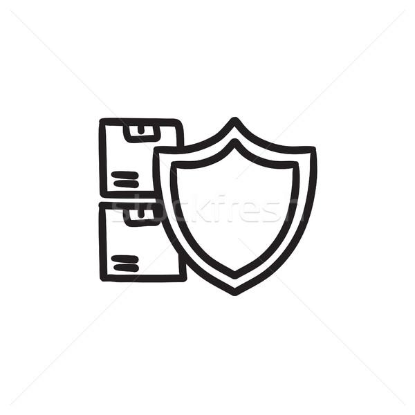 Cargo insurance sketch icon. Stock photo © RAStudio