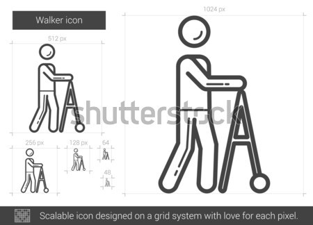 Walker line icon. Stock photo © RAStudio