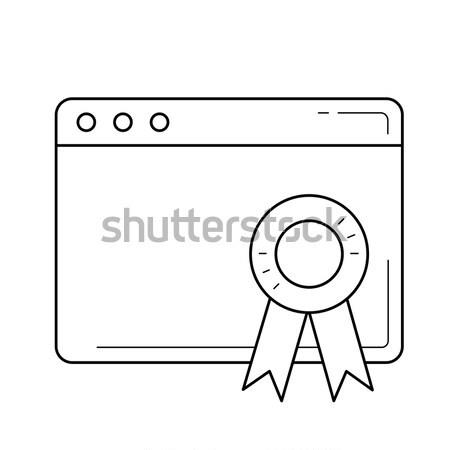 ランキング 行 アイコン ベクトル 孤立した ストックフォト © RAStudio