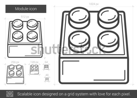 Module line icon. Stock photo © RAStudio