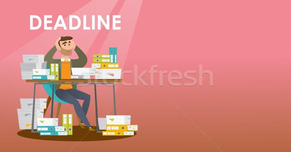 Imprenditore problema scadenza uomo d'affari seduta tavola Foto d'archivio © RAStudio