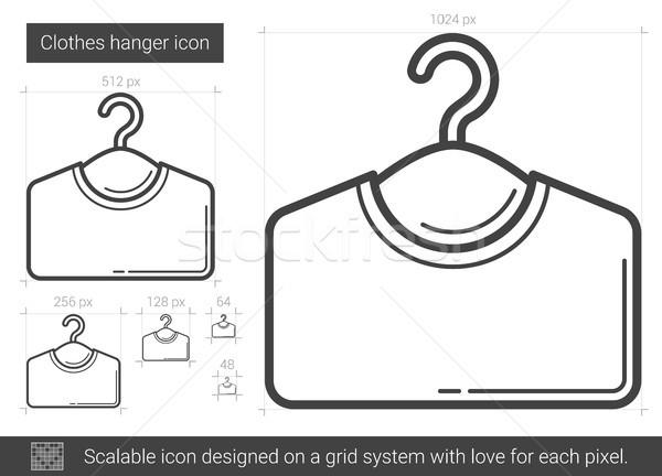 Clothes hanger line icon. Stock photo © RAStudio