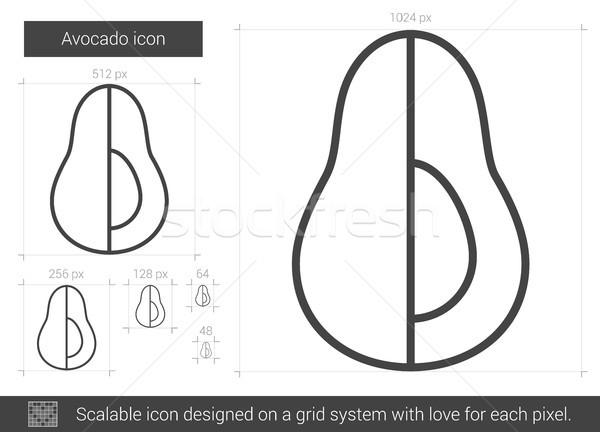 Avocado line icon. Stock photo © RAStudio
