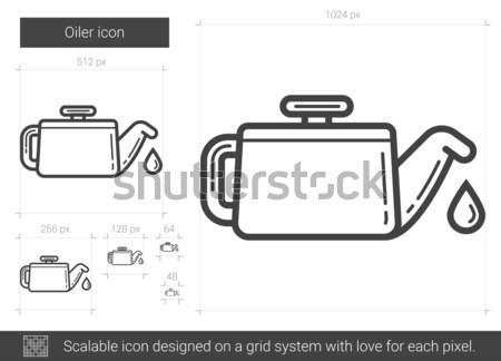 Lijn icon vector geïsoleerd witte Stockfoto © RAStudio