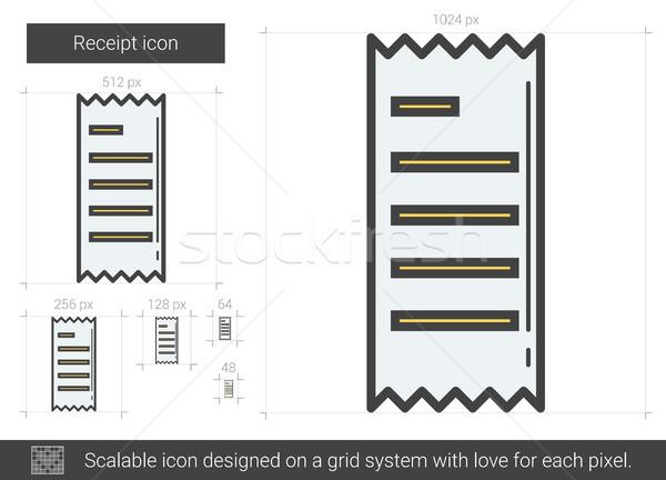 Erhalt line Symbol Vektor isoliert weiß Stock foto © RAStudio