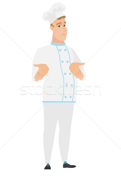 Verwechselt Küchenchef Koch Schultern Stock foto © RAStudio