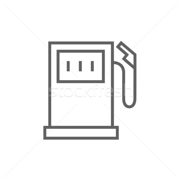 Posto de gasolina linha ícone teia móvel Foto stock © RAStudio