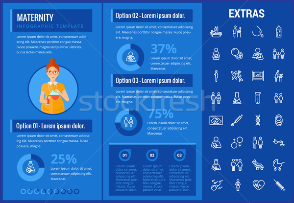 Stock photo: Maternity infographic template, elements and icons