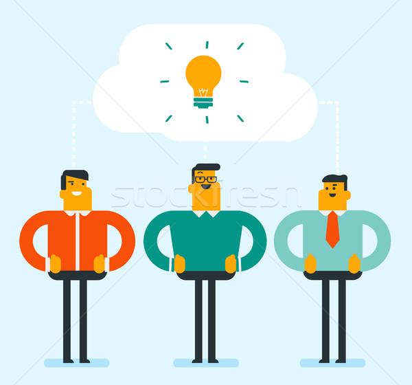 Caucasian businessmen discussing business ideas. Stock photo © RAStudio