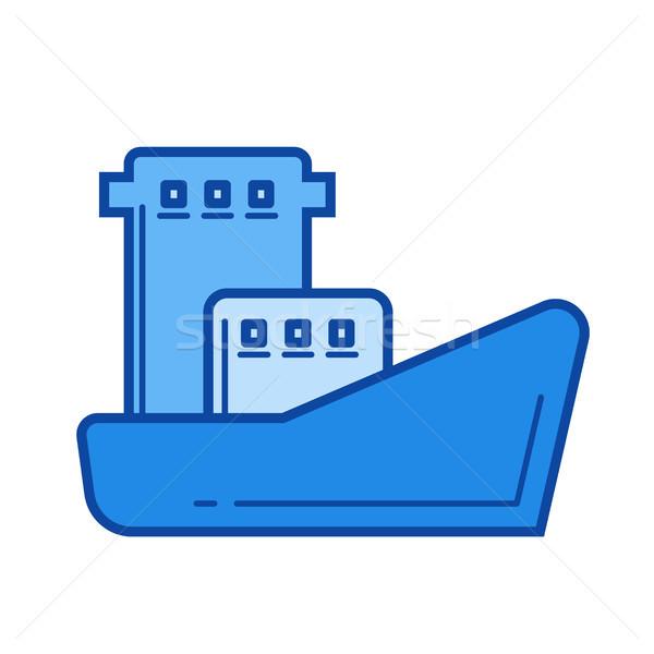 Oil tanker line icon. Stock photo © RAStudio