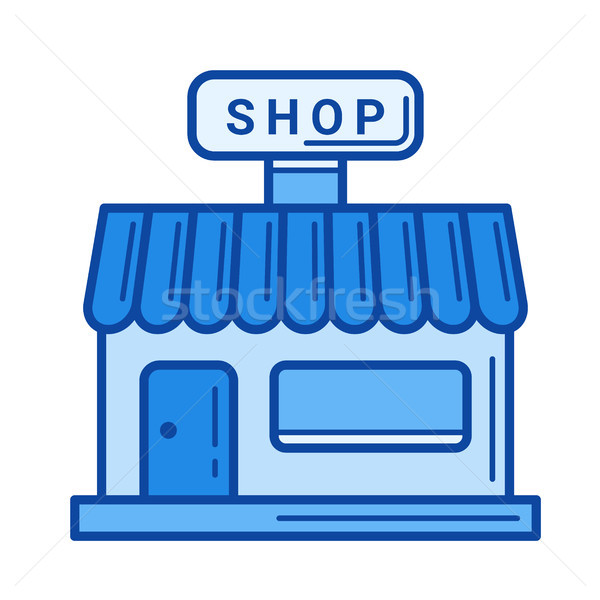 Grocery store line icon. Stock photo © RAStudio