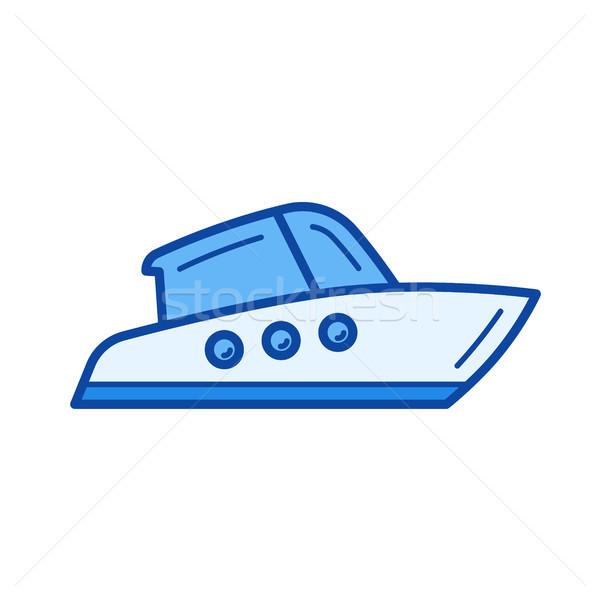 Yacht line icon. Stock photo © RAStudio