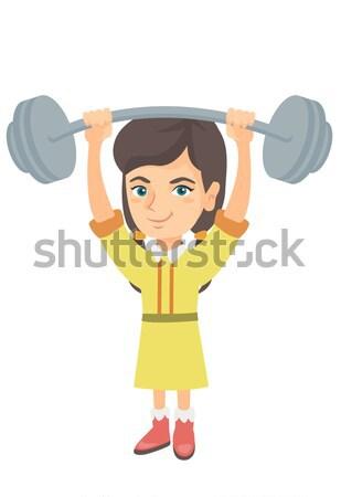 Silne chłopca ciężki masy Zdjęcia stock © RAStudio