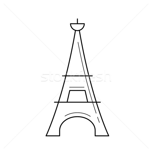Eiffel tower line icon. Stock photo © RAStudio