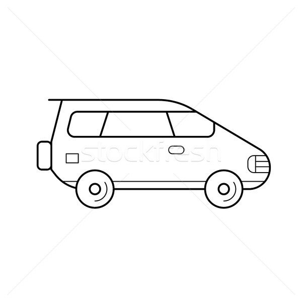 Wagon car line icon. Stock photo © RAStudio