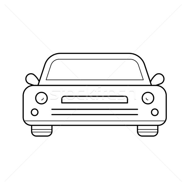 Sedan auto lijn icon vector geïsoleerd Stockfoto © RAStudio