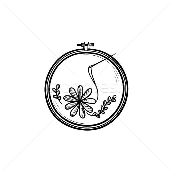 Handicraft hand drawn sketch icon. Stock photo © RAStudio