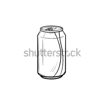 Soda pop can hand drawn sketch icon. Stock photo © RAStudio