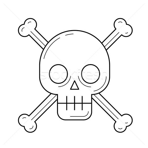 Danger sign vector line icon. Stock photo © RAStudio