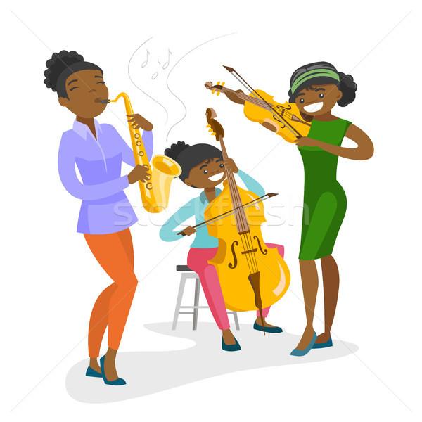 Band musicisti giocare strumenti musicali musica prestazioni Foto d'archivio © RAStudio