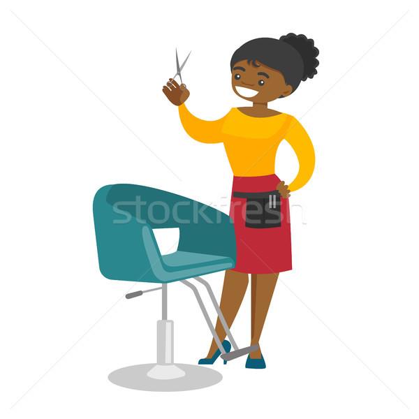 Saç stilist işyeri güzellik genç ayakta Stok fotoğraf © RAStudio