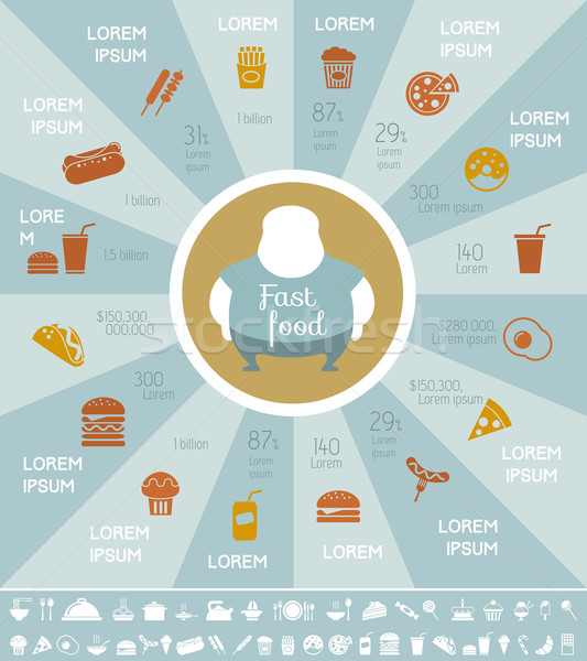 Fastfood Infographic Template. Stock photo © RAStudio