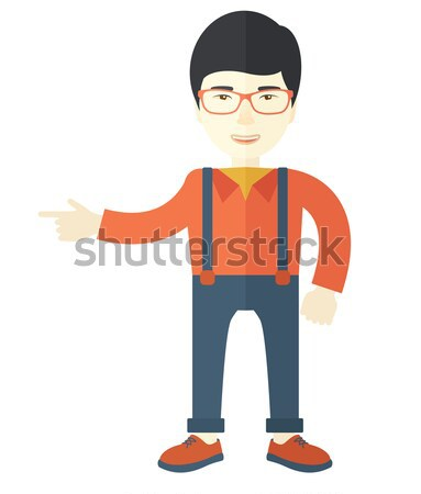 Proud asian businessman. Stock photo © RAStudio