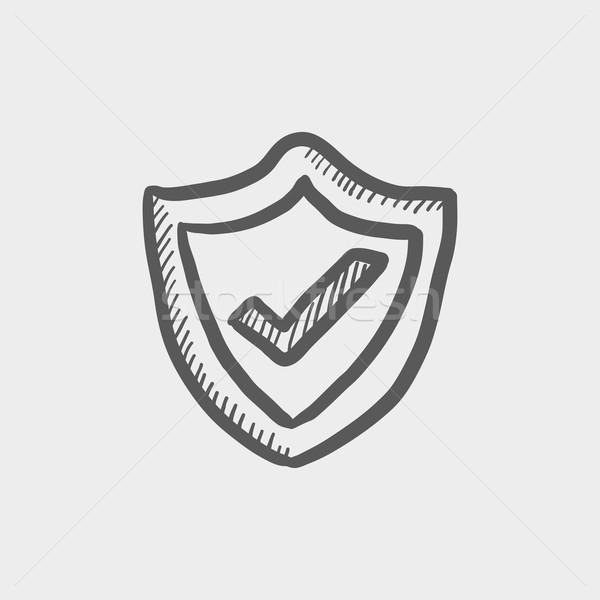 Best seller guaranteed badge sketch icon Stock photo © RAStudio