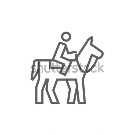Horse riding icon drawn in chalk. Stock photo © RAStudio