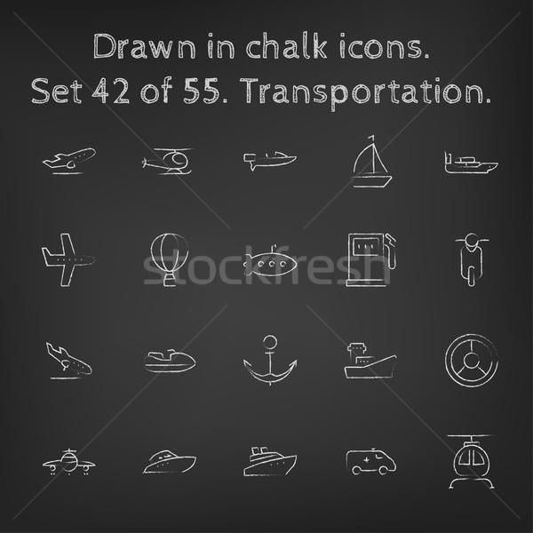Krijt Blackboard vector Stockfoto © RAStudio