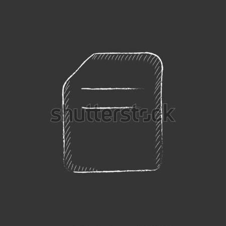Heart defibrillator icon drawn in chalk. Stock photo © RAStudio